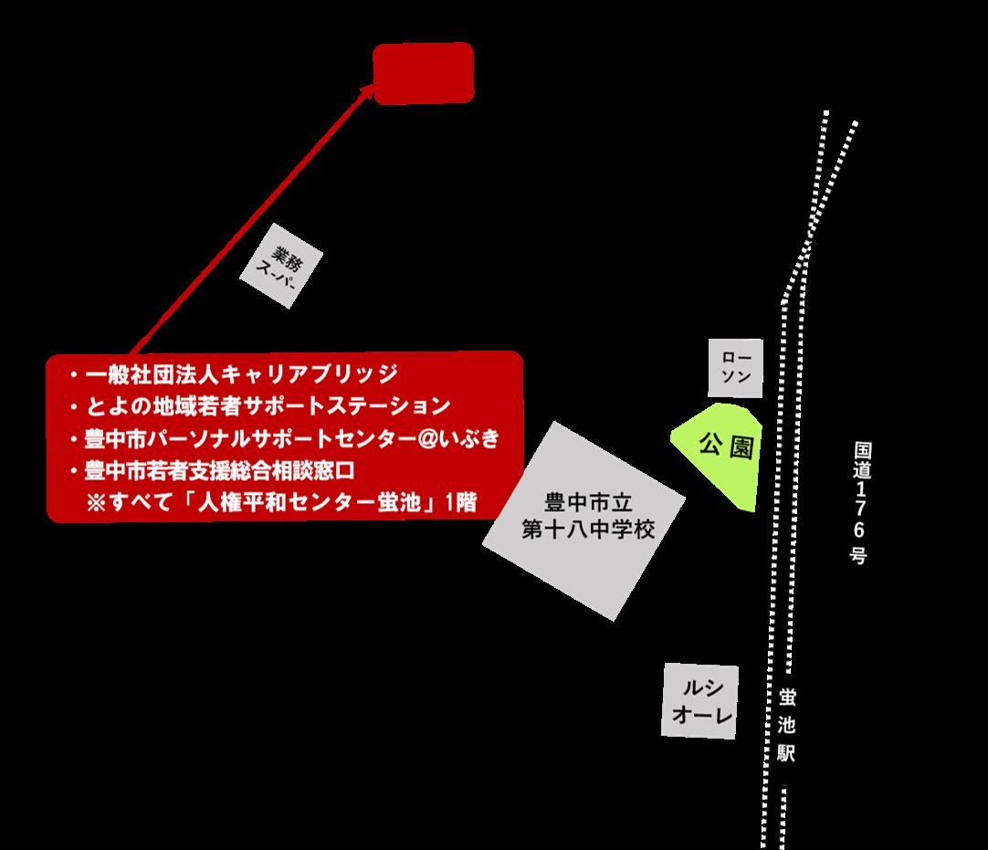 キャリアブリッジ地図
